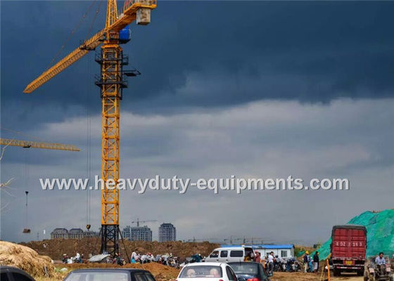 الصين Safety Concrete Construction Equipment Luffing Jib Tower Crane 161M Max Height For Max Load المزود