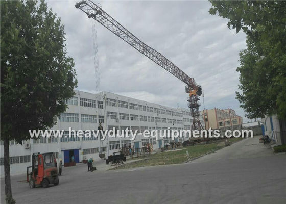 الصين Tower crane 46m with max load of 10 tons and tip load 1.8 tons for construction المزود