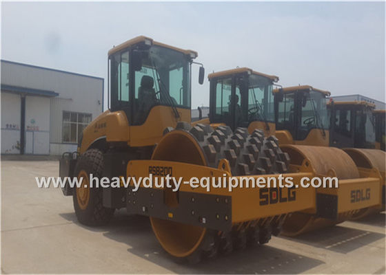 الصين 20Tons Steel Single Drum Road Roller Road Construction Equipment With Padfoot Movable المزود