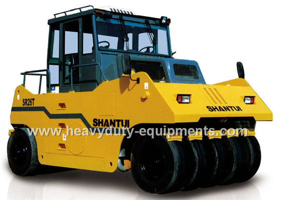 الصين Shantui SR26T heavy duty wheel road roller with 145000 kg operating weight and Shangchai engine المزود