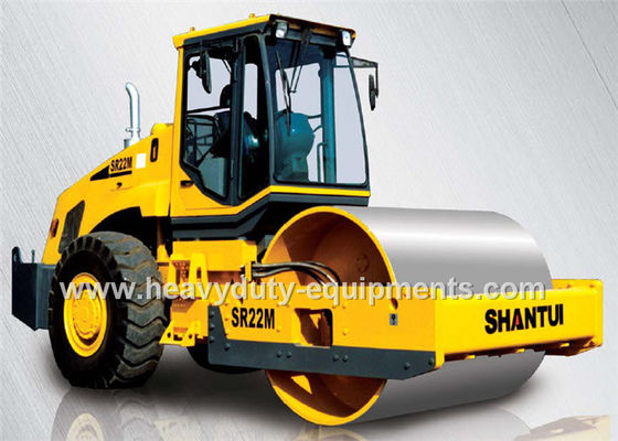 الصين Shantui SR22MP single drum road roller with total weight 22800kg for compaction المزود
