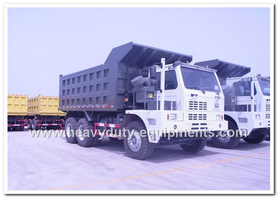 الصين HOWO 70tons Off road Mining Dump Truck Tipper 6*4 driving model 371hp with HYVA Hdraulic pump المزود