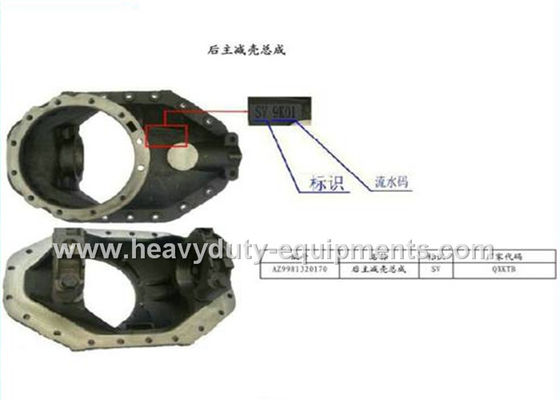 الصين Vehicle Spare Parts 29.13Kg Rear Main Reducer Shell Assembly AZ9981320170 المزود