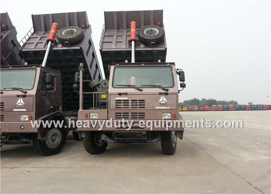 الصين 6x4 driving sinotruk howo 371hp 70 tons mining dump truck  for mining work المزود