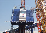 الصين 36M / Min Construction Hoist Elevator , Construction Site Elevator Safety Vertical Transporting Equipment مصنع