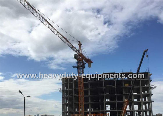 Tower crane with free height 40m and max load 6 T with warranty for construction