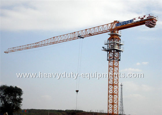 Tower crane with free height 77m for max load of 25 tons equipped a hydraulic self raising mechanism
