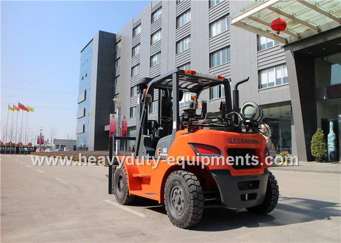Sinomtp FY50 Gasoline / LPG forklift with 2550mm Mast Lowered Height