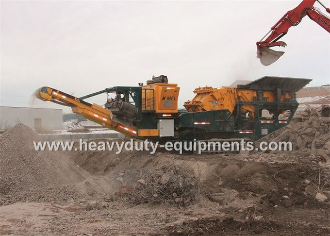 Three Spindle Mobile impact crusher