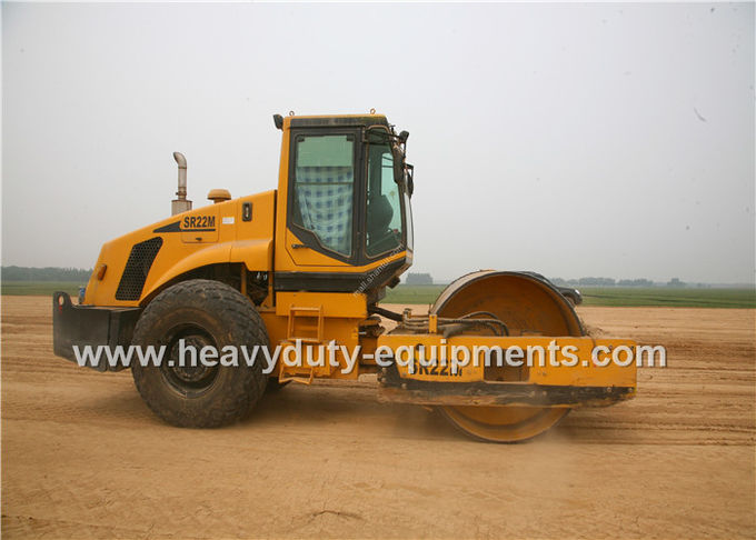 Shantui SR22MP single drum road roller with total weight 22800kg for compaction