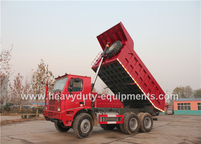 70 ton 6x4 mining dump truck with 10 wheels 6x4 driving model HOWO brand
