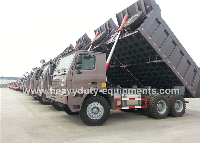 6x4 driving sinotruk howo 371hp 70 tons mining dump truck  for mining work
