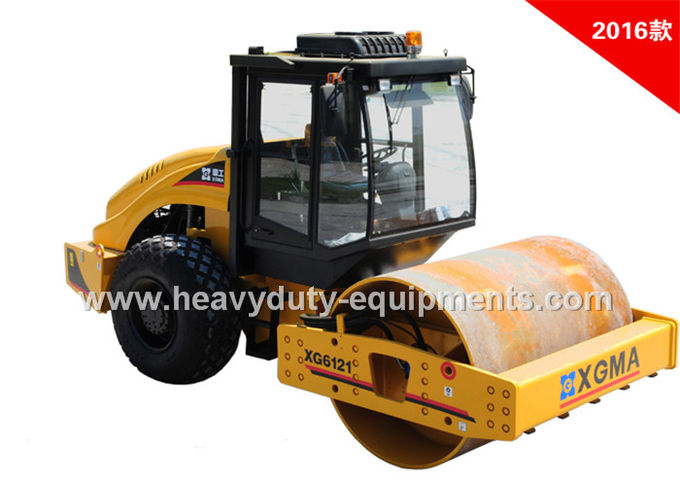 XGMA XG6121D automatic vibration road roller with Cummins 6BT5.9 engine