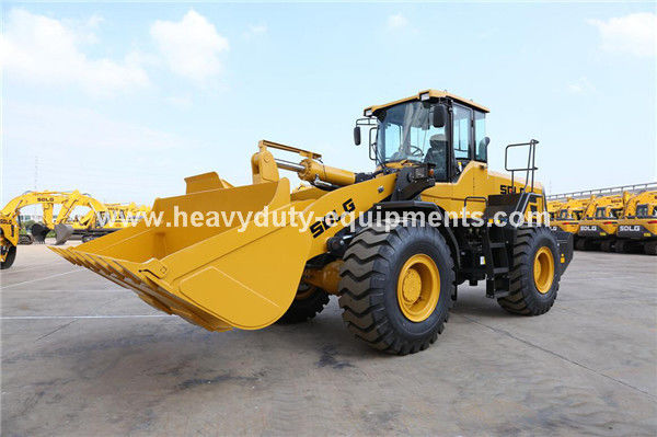 SDLG 5T 3m3 Wheel Loader with Weichai 162kw , SDLG Heavy Axle, ZF Transmission for option
